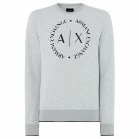 Armani Exchange Large Circle Logo Sweatshirt