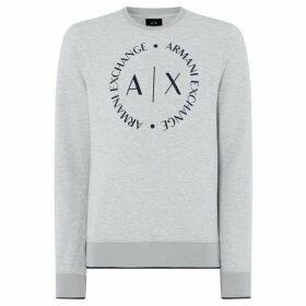 Armani Exchange Large Circle Logo Sweatshirt