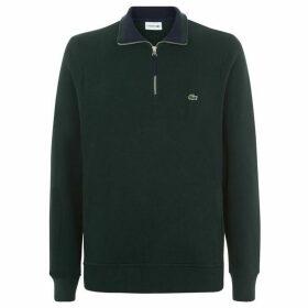 Lacoste Flat Ribbed half Zip Sweatshirt