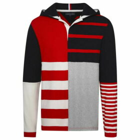 Tommy Hilfiger Stripe Hooded Rugby Sweatshirt