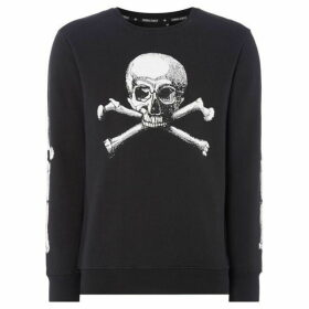 Criminal Damage Skull Printed Sweatshirt