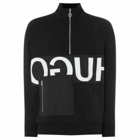 Hugo Darrius Reverse Logo Funnel Neck Sweatshirt