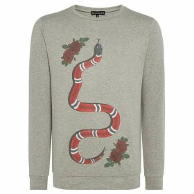 Dead Legacy Rose and snake graphic print sweatshirt