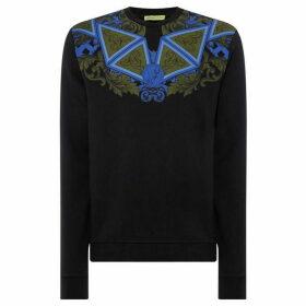 Versace Jeans Geo Pattern Neckline Sweatshirt