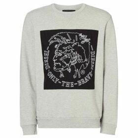 Diesel Bravehead Printed Sweatshirt