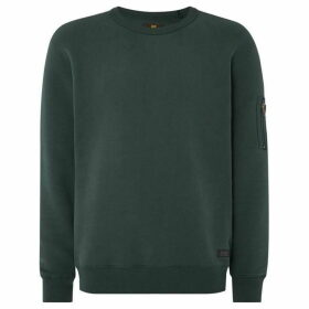 Lee Zip Arm Detail Crew Neck Sweatshirt
