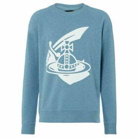 Vivienne Westwood Jeans Large orb logo crew neck sweatshirt