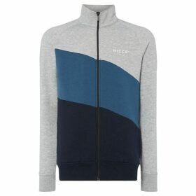Nicce N-Logo Colour Block Zip Through Sweatshirt