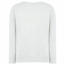 Lee Outline logo crew neck sweatshirt