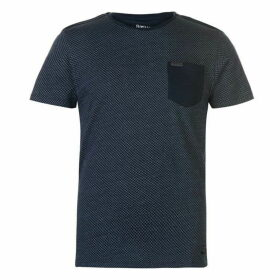 Firetrap Blackseal Textured T Shirt