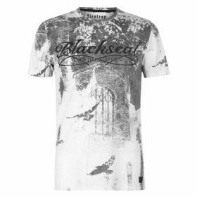 Firetrap Blackseal Birds T Shirt