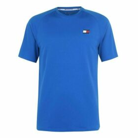 Tommy Sport Tommy Mesh Back T Shirt Mens