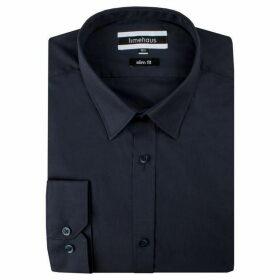 Limehaus Navy Poplin Forward Point Shirt