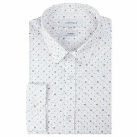 Limehaus White Tile Print Forward Point Shirt