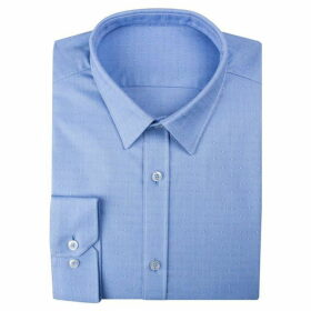 Limehaus Blue Textured Spot Forward Point Shirt