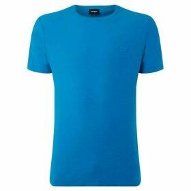 Diesel Short Sleeve Slub Logo T-Shirt