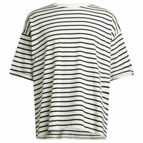 All Saints Kleve Stripe Short Sleeve Crew T-Shirt