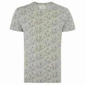 Criminal Textured All Over Print T-Shirt