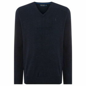 Polo Golf V Neck Merino Jumper