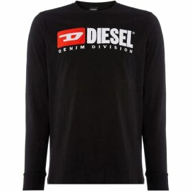 Diesel Long Sleeve Retro Logo T-Shirt
