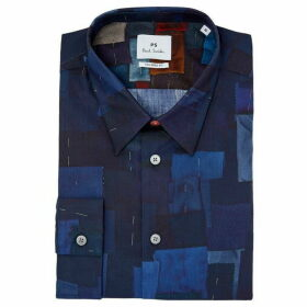 PS by Paul Smith Tailored Fit Fabric Swatches Print Shirt