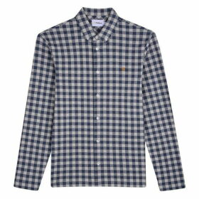Farah Bobby Long Sleeve Checked Jersey Shirt