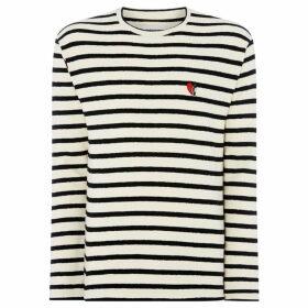 Libertine Libertine Wineheart logo stripe t-shirt