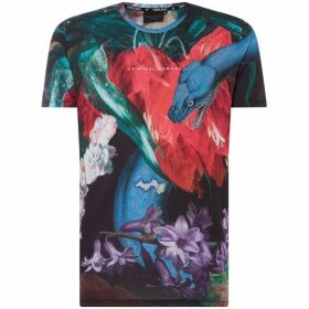 Criminal Damage Jungle Print T-Shirt