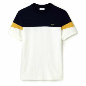 Lacoste Crew Neck Colorblock Soft Jersey T-Shirt