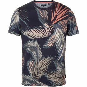 Ted Baker Pencil Leaf Patterned T-Shirt