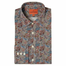 Simon Carter Puppytooth Flower Print Shirt