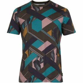 Ted Baker Apahol Short Sleeve Geo Printed Cotton Tshirt