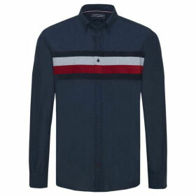 Tommy Hilfiger Long Sleeve Striped Chest Shirt