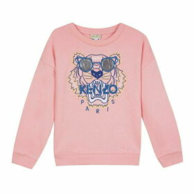 Kenzo Kid Girl Sweat Shirt Salmon Pink