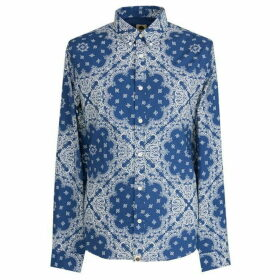 Pretty Green Slim Fit Bandana Print Shirt