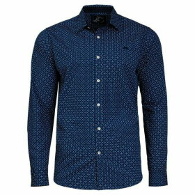 Raging Bull Big And Tall Micro Geo Print Shirt