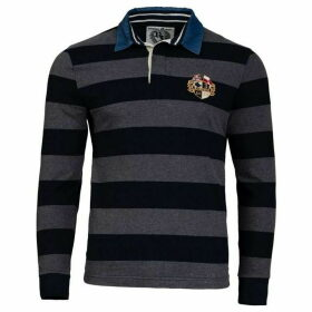 Raging Bull Big And Tall Crest Stripe Rugby