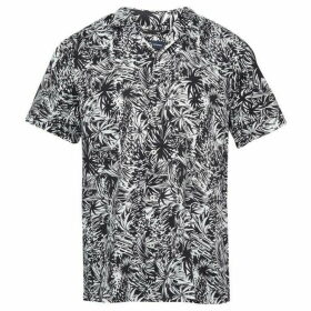 French Connection Paikau Palm Print Shirt