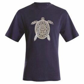 Double Two Tribal Turtle Print T-Shirt