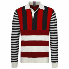 Tommy Hilfiger Knitted Stripe Polo Sweater