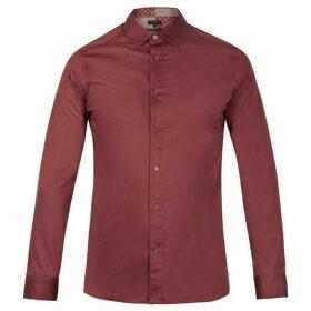 Ted Baker Plateen Ls Satin Strech Shirt