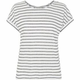 Whistles Stripe Relaxed Linen Tee