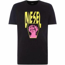 Diesel Neon Statue Logo T-Shirt