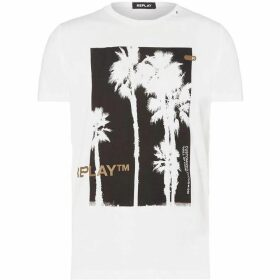 Replay T-Shirt With Palm Tree Print