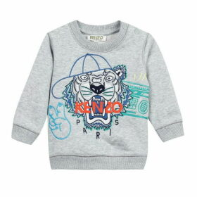 Kenzo Baby Boy Sweat Shirt Grey