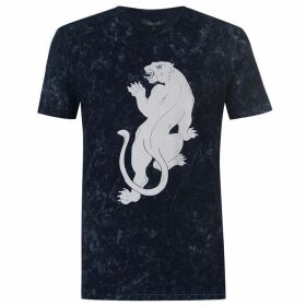 Label Lab Vela Monochrome Panther Print T-shirt