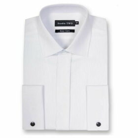 Double Two King Size Ribbed Pique Dress shirt