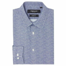 Kenneth Cole Penn Slim Fit Wire Print Shirt