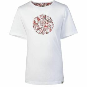 Pretty Green Paisley Print Logo T-Shirt
