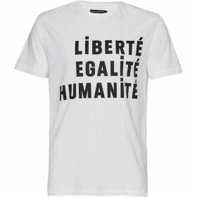 French Connection Egalite Slogan Cotton T-Shirt